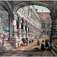Palais des Princes Evêques de Liège - Iconographie - Prout 1833