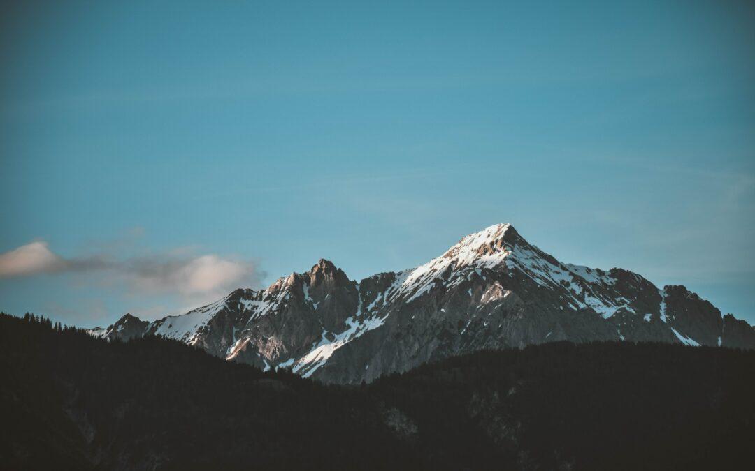 Du haut de la montagne